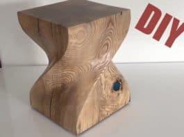 e41953de9f1b Στριφτό σκαμπό από κορμό δέντρου · diy τσιμεντένιο παγκάκι