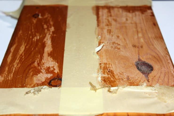 διαβρωτικό πάνω σε ξύλο