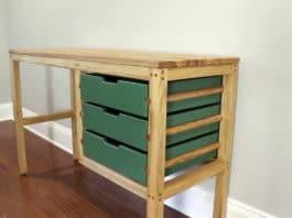 diy ξύλινο γραφείο