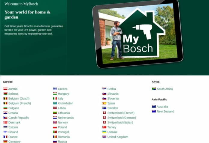 επέκταση εγγύησης bosch