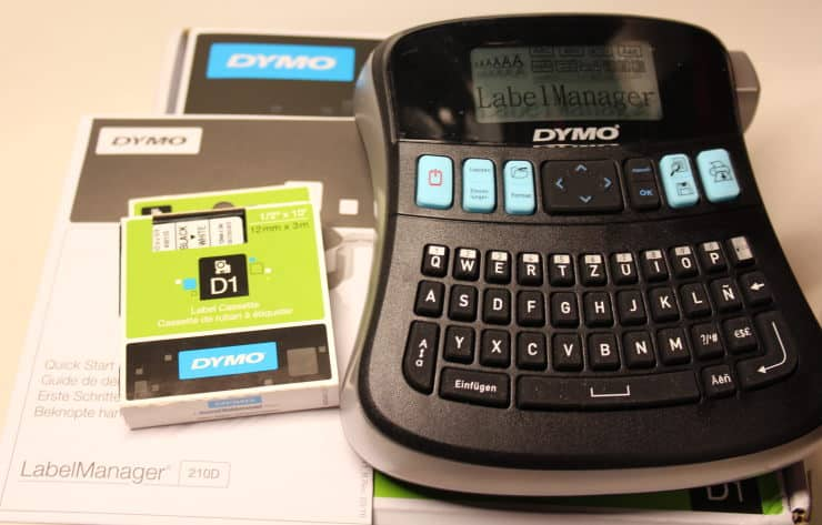 dymo 210d συσκευασία