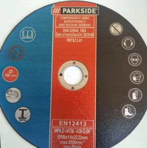 δίσκος για PARKSIDE PMTS 180 A1