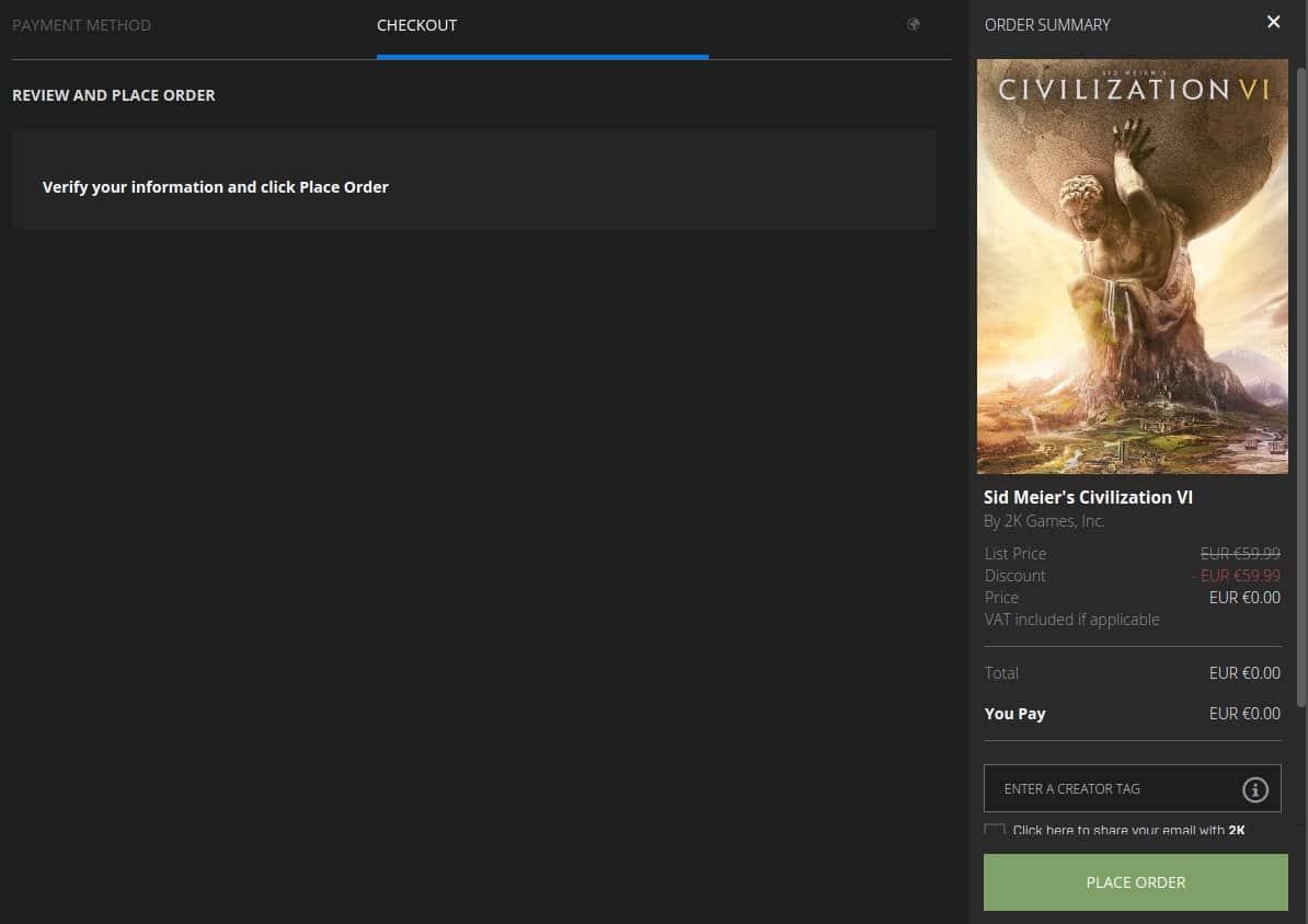 epic games civilization vi