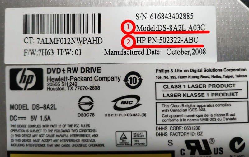 dvd drive για compaq presario cq60