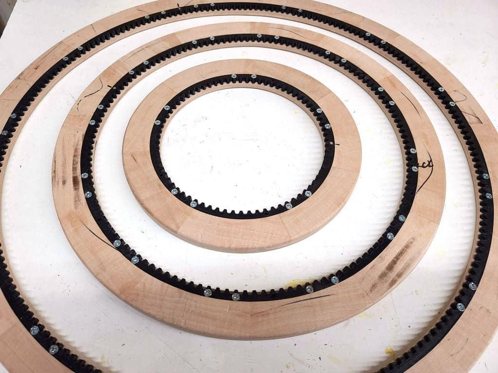 ξύλινα δακτυλίδια για ημερολόγιο
