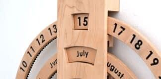 diy ξύλινο ημερολόγιο