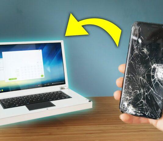 σπασμένο κινητό γίνεται λειτουργικό laptop