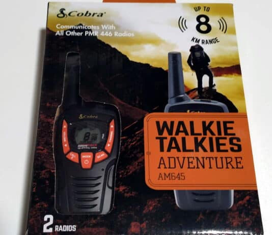 walkie talkie cobra am645 review