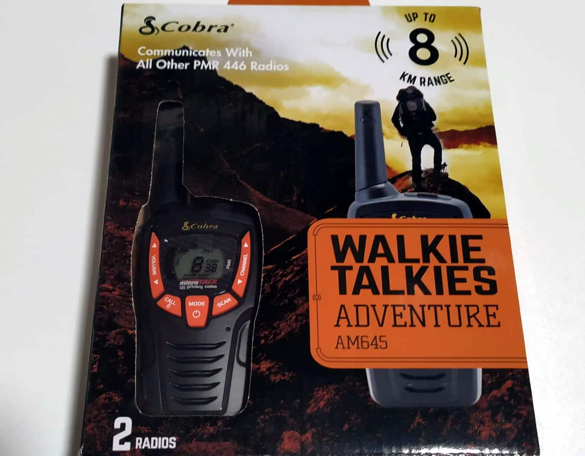 walkie talkie cobra am645 review