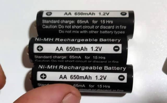 επαναφορτιζόμενες μπαταρίες 650mah