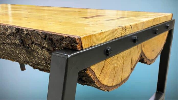 diy ρουστίκ τραπέζι από κορμό δέντρου