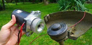 DIY θαμνοκοπτικό μπαταρία από βενζινοκίνητο
